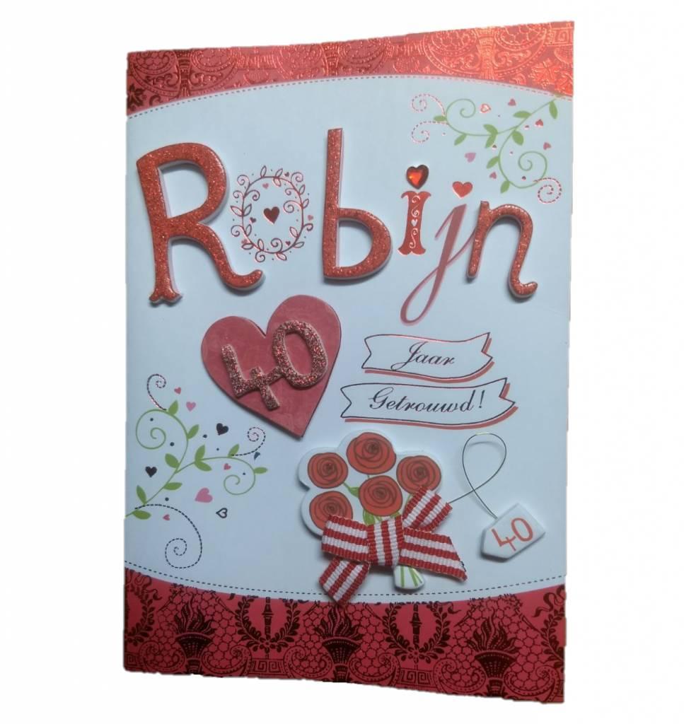 Magnifiek Card Xpress - Kaart - Robijn, 40 jaar getrouwd | 1234feest.nl @FS06