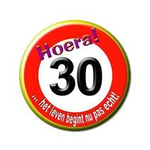 Paperdreams - Button - Verkeersbord - Klein - 30 Jaar