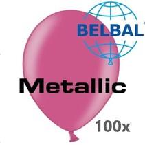 Belbal - Ballonnen - Hardroze - Metallic - 100st.