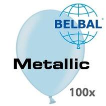 Belbal - Ballonnen - Lichtblauw - Metallic - 30cm. - 100st.