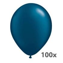 Belbal - Ballonnen - Donkerblauw - Metallic - 100st.