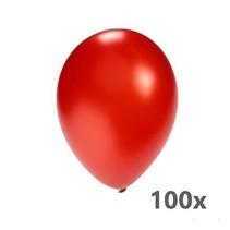 De ballonnerie - Ballonnen - Metallic rood - 100st.