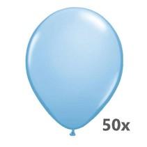 Folat - Ballonnen - Lichtblauw - Metallic - 50st.