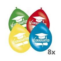 Folat - Ballonnen - Geslaagd - Graduated - 30cm - 8st