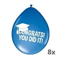 Folat - Ballonnen - Geslaagd - Congrats! You did it! - 30cm - 8st