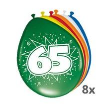 Folat - Ballonnen - 65 Jaar - 8st.