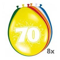 Folat - Ballonnen - 70 jaar - 8st.