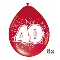 Folat - Ballonnen - 40 Jaar getrouwd - Robijn - 8st.