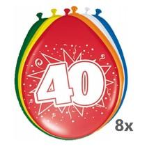 Folat - Ballonnen - 40 Jaar - 30cm - 8st.