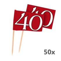 Folat - Prikkers - 40 Jaar getrouwd - Robijn - 50st.