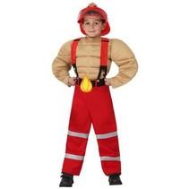 Partychimp - Kostuum - Brandweer - Gespierd