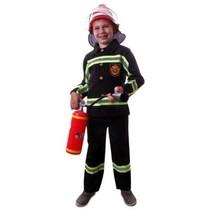 PartyXplosion - Kostuum - Brandweer - Zwart