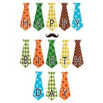 PartyXplosion - Vlaggenlijn - Happy Birthday - Stropdasjes
