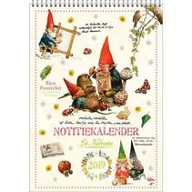 Comello - Kalender - Rien Poortvliet - Maandnotitiekalender - Kabouter - A4