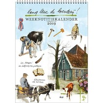 Comello - Kalender - Rien Poortvliet - Weeknotitiekalender - Lang leve de boerderij - 16,5x23cm