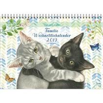 Comello - Familieweeknotitiekalender - Franciens katten - Oblong - 29,7x21cm