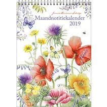 Comello - Maandnotitiekalender - Janneke Brinkman - Veldbloemen - 21x29cm