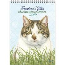 Comello - Weeknotitiekalender - Franciens katten - Kater - 16,5x23cm