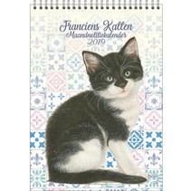 Comello - Maandnotitiekalender - Franciens katten - Kitten - 21x29,7cm