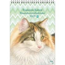 Comello - Maandnotitiekalender - Franciens katten - Pleun - 21x29,7cm