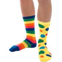 Smiffys - Sokken - Clown - Regenboog - One size