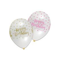 Witbaard - Ballonnen - Happy birthday - 6st.