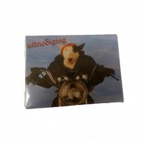 Original Poster - Uitnodigingskaarten - Hond op motor - 6st.