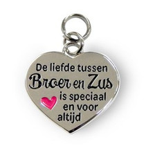 Charms for you - Bedeltje - Broer & zus