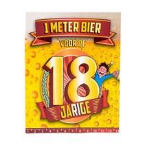 Paperdreams - Bier meter kaart - 18 Jaar