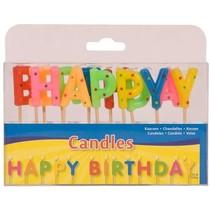 Folat - Kaarsjes - Op prikker - Happy Birthday