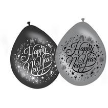 Folat - Ballon - Happy New Year - 30cm - 8st.