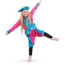 Folat - Kostuum - Piet - Roze/turquoise - 3dlg - mt. 104-116
