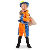 Folat - Kostuum - Piet - Blauw/oranje - 3dlg. - mt.116/128