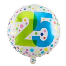 Folat - Folieballon - Regenboog stippen - 25 Jaar - 45cm