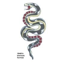 Partychimp - Tijdelijke vintage tattoo - Slang