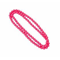 Folat - ketting - Neon roze - 100cm
