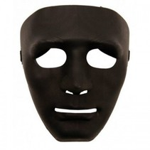 Partychimp - black mask plastic