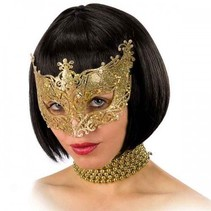 Partychimp - Oogmasker - Goud - Glitter