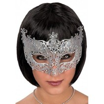 Partychimp - Oogmasker - Zilver - Glitter