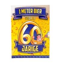 Paperdreams - 1 Meter bier kaart - 60 Jaar