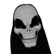 Partychimp - Skull Mask with hood plastic