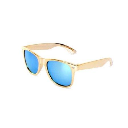 PartyXplosion PartyXplosion - Bril - Blues brothers - Goud met spiegelglas