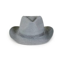 PartyXplosion - Cowboyhoed - Glitter - Zilver