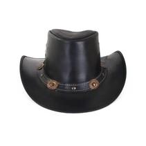 PartyXplosion - Cowboyhoed - Leder - Zwart - XL