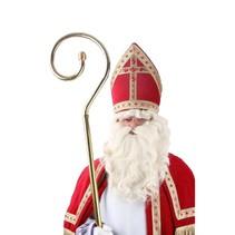PartyXplosion - Pruik & baard - Sinterklaas - Losse snor - Met kinzak