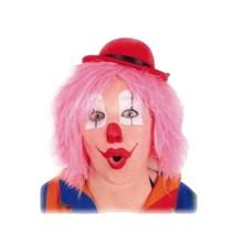 PartyXplosion - Pruik - Clown - Roze