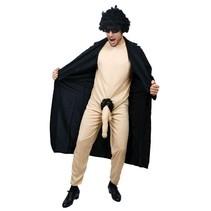 Witbaard - Kostuum - Potloodventer - Zwarte jas - M/L