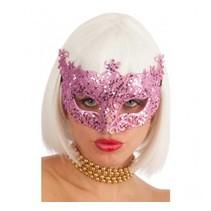 Partychimp - Oogmasker - Roze Glitter