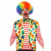 Smiffys - Kostuum - Clown - Set van vest en strik - One size