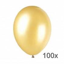 Belbal  Ballonnen - Metallic - Goud - 28cm. - 100st.